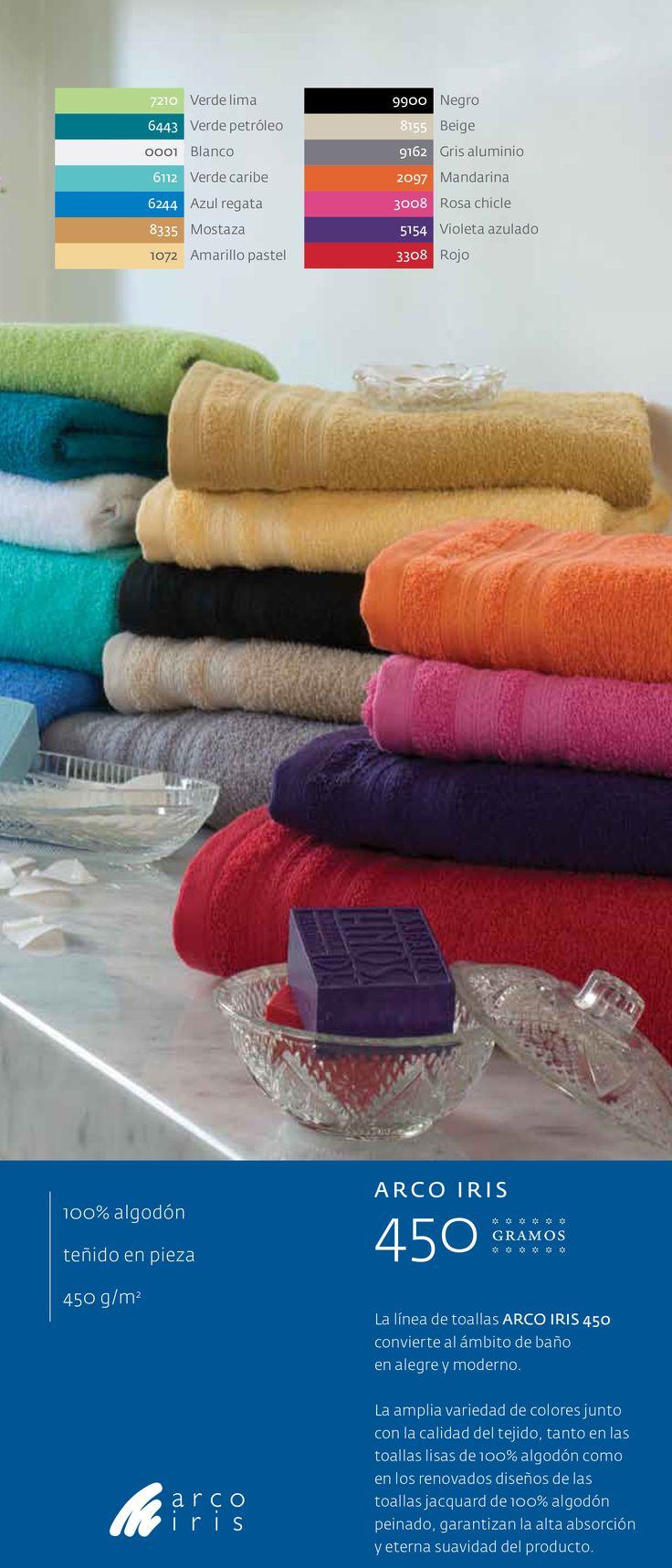 #Toallas y toallones #ArcoIris 450 Gramos - 100% algodón  #mayorista #CuencaTextil
