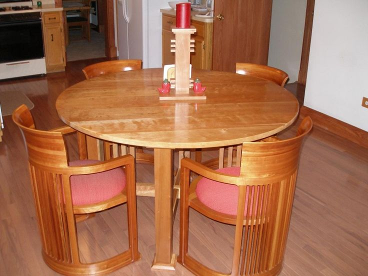 featured awesome modern kitchen furniture with attractive round wooden dining table with wooden - Modern Kitchen Tables