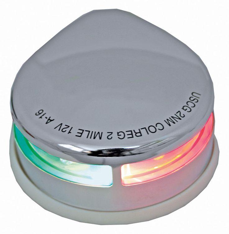 Boat Navigation Light Stainless Steel Bi-Colour Bow Light / Deck Nav light 12v