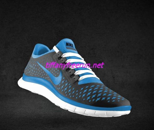 Womens Nike Free 3.0 V4 Wolf Grey University Blue Bright White Lace Shoes