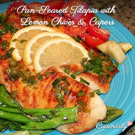 Pan-Seared Tilapia with Lemon Chives