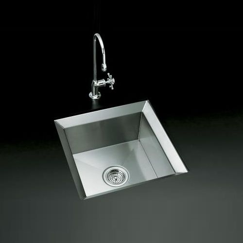 Kohler K3391 H NA Poise Self Rimming Bar Sink   Stainless Steel At