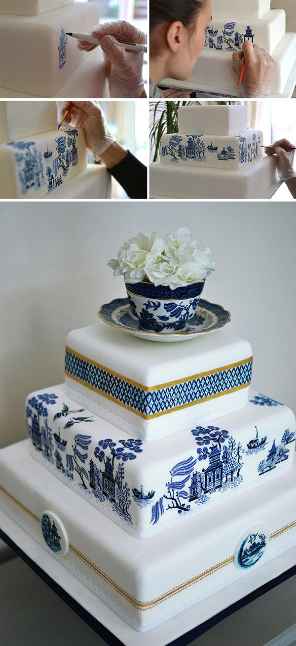 Hand Painted Wedding Cake MurrayMe
