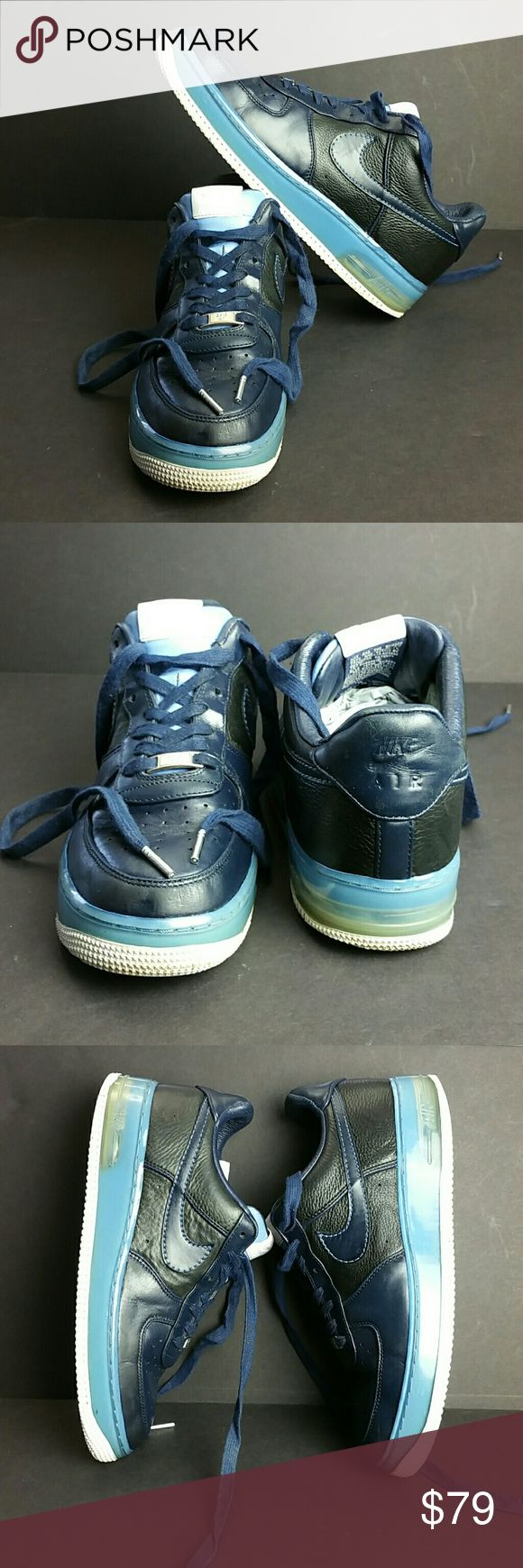 NIKE AIR FORCE 1 SUPREME MAX AIR MEN'S SHOES IN GOOD CONDITION   SKE # KU5 NIKE Shoes Athletic Shoes