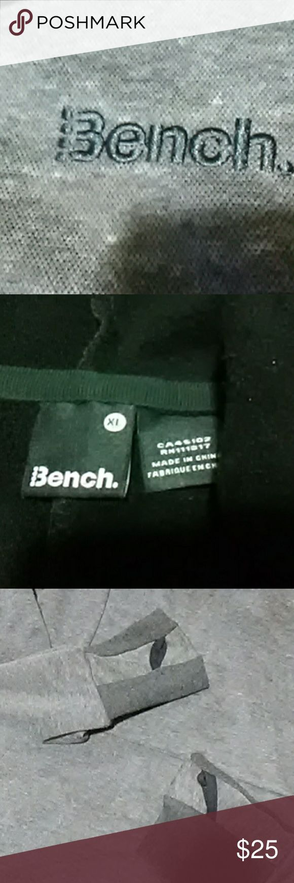 Bench hoodie XL Bench hoodie  extra large The hood is actually a neck and head gator for bundling up With thumb holes in sleeves Very soft and warm Bench Tops Sweatshirts & Hoodies