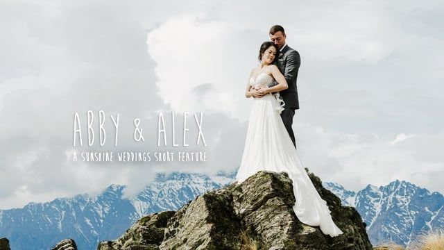 Abby and Alex's Queenstown elopement wedding - mountains, snow angels, handstands, fun and lots of love!  Video and photography by Sunshine Weddings - Film and Photo  See more of this weddings at http://www.sunshineweddings.co.nz/garden-spur-mountain-elopement-wedding/