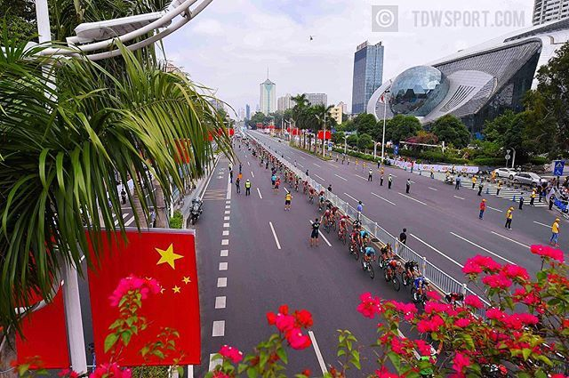 source instagram tdwsport  Crossing Nanning city, very surprised about the modern architecture and fast growing mega cities @tourofguangxi #stage3 #nanning #city #peloton #landscape #TOG2017 #china #cycling @uci_cycling  tdwsport  2017/10/22 01:16:27