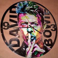 VINYL PLANET Wall Clock DAVID BOWIE