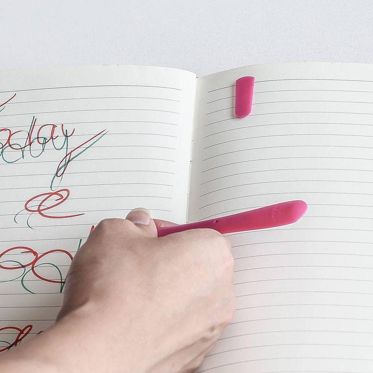 Kalem ve Sayfa Ayraç Fuşya - 9,10 TL l #kalem #ofis #sayfaayrac