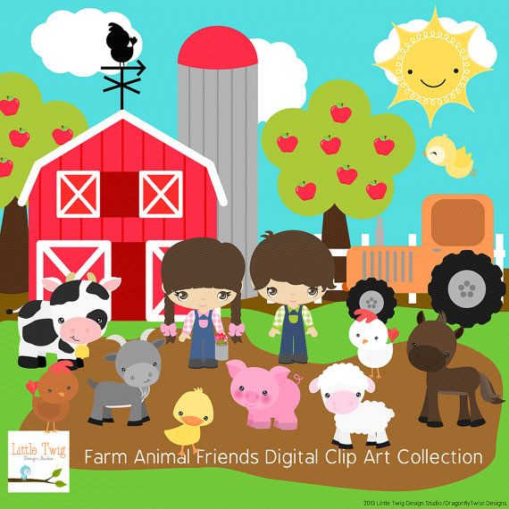 Baby Farm Animals Clip Art 11 best baby room wall clocks images on pinterest