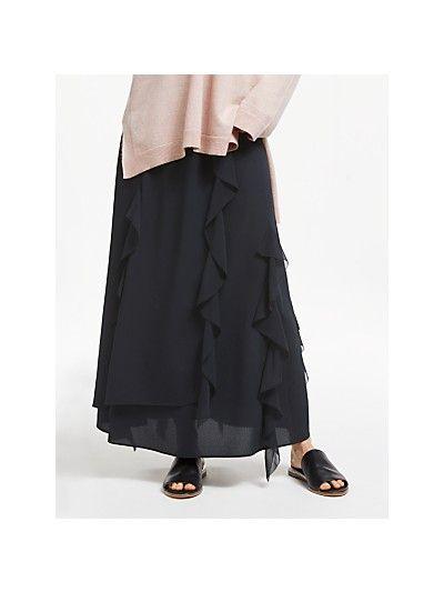 e6cc02982 Modern Rarity Ruffle Maxi Skirt, Black | Skirts in 2019