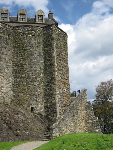 Dunstaffnage Castle And Chapel, Argyl, is an ancient site and was was a stronghold since the 7th century or earlier. It was held by the MacDougalls, but was seized by Robert the Bruce. Then the Campbells of Argyll were made hereditary keepers of the castle.