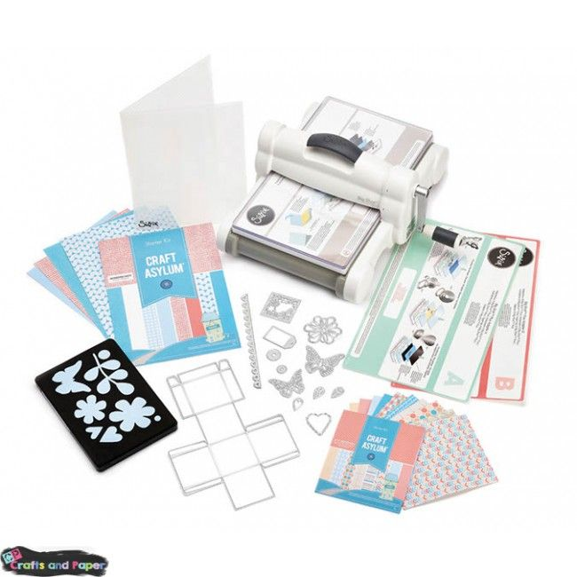 Sizzix Big Shot Starter Kit Plus 2015 (White & Gray) Υλικά χειροτεχνίας, ντεκουπάζ, περφορατέρ, φάκελα χρωματιστά