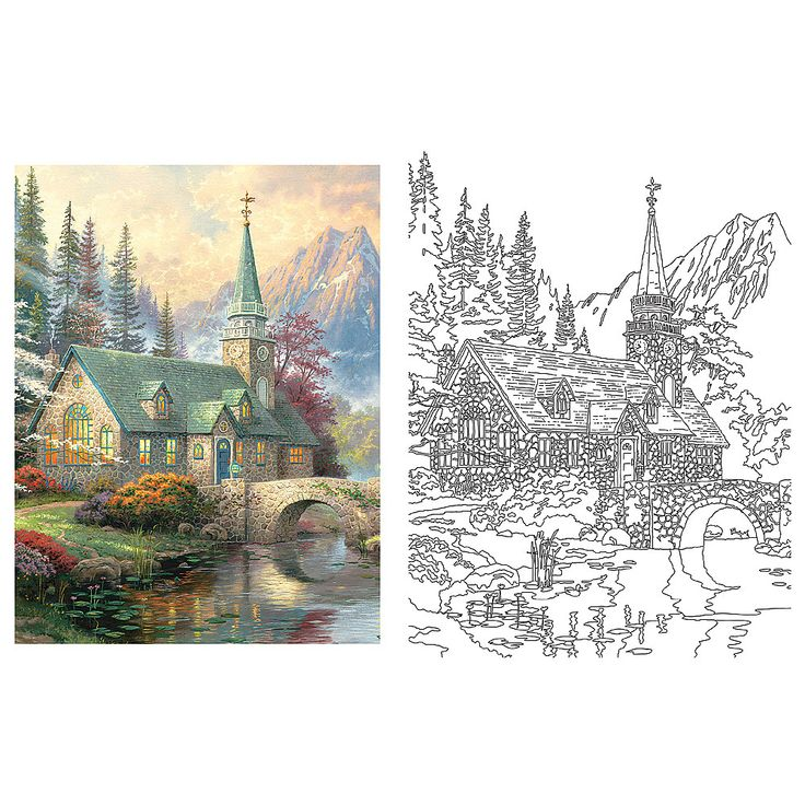 Coloring Pages Thomas Kinkade