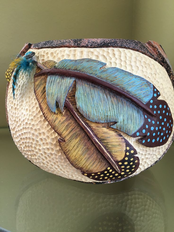 Gourd art by Sue Fuller                                                                                                                                                                                 More
