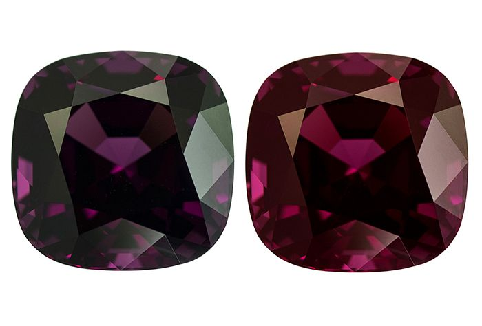 20.07ct. grenat rhodolite à changement de couleur. A rhodolite garnet color change.
