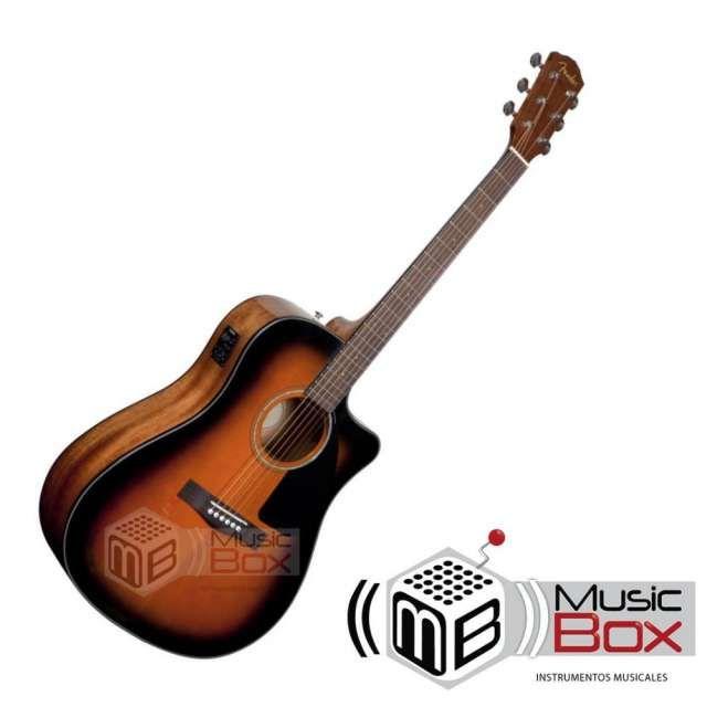 Guitarra electroacustica fender cd60 con estuche duro - nueva - musicboxcolombia