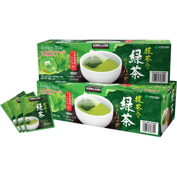 Kirkland Signature Japanese Green Tea with Matcha 100 ct. 2-pack