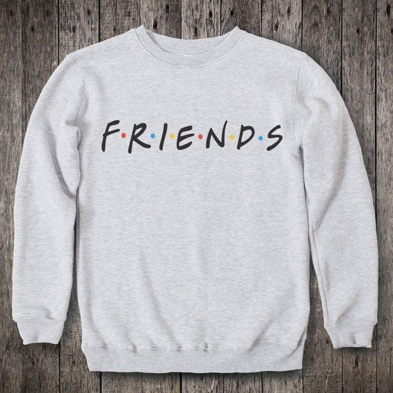 Friends TV Show Clothing Friends TV Show Sweatshirt Friends TV Show Sweater Friends tv Series Pullover Jumper for Men Women Sweatshirt There never has been a sitcom that truly pictures life among the singles (twenty-something) as good as this show does. Its not just comedy, it presents the episodes in such a way that one can truly identify with the situations they face so the audience has something to talk about in coffee shops too. The humor is universal. If you want your favourite TV show…