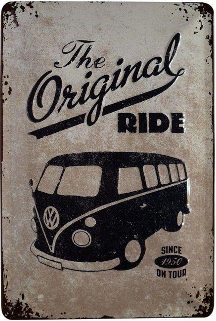 VW Bus Kult Auto Oldtimer Retro geprägt Blechschild 20 x 30 cm Metallschild 108