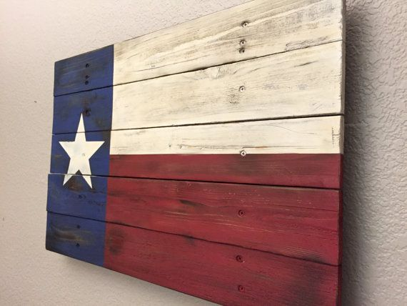 Texas Flag Handmade Distressed Wooden Flag by AmericanHandcraft