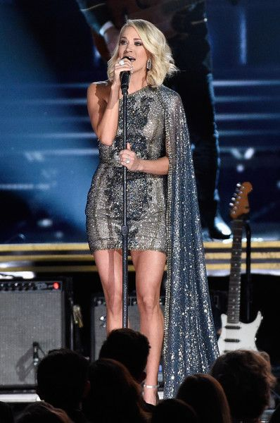 Carrie Underwood performs onstage at the 50th annual CMA Awards at the Bridgestone Arena on November 2, 2016 in Nashville, Tennessee.