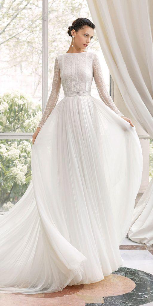 24 bescheidene Brautkleider Ihres Traums