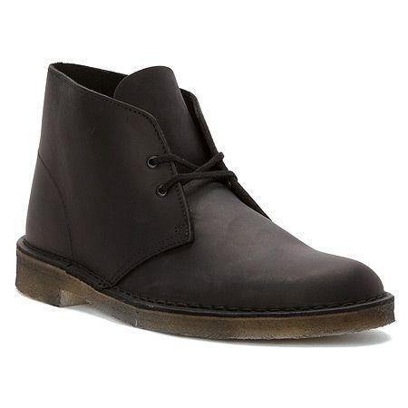 Clarks Desert Boot | Men's - Black Smooth Leather