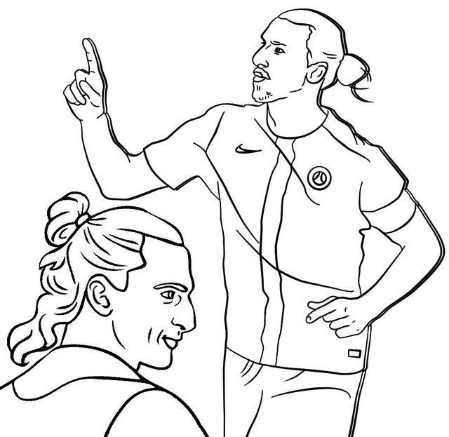 Ibrahimovic Famous Soccer Player Coloring Page Sports Coloring