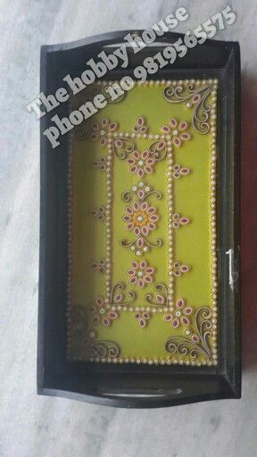 Ornamental quilling tray