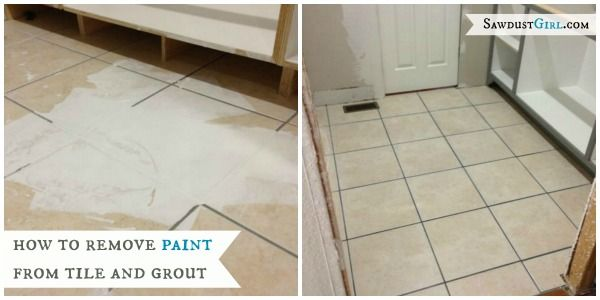 how to remove paint from grout and tile diy ideas pinterest grout. Black Bedroom Furniture Sets. Home Design Ideas