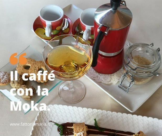 Il caffè con la moka. Sì, da noi c'è! ☺ #fattoriamaria #soliera #atavolaincampagna