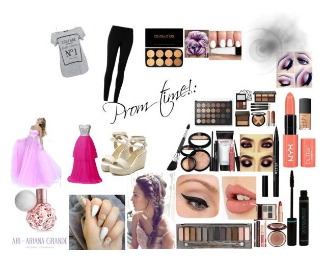 """Normal to prom!"" by courtneyn-i on Polyvore featuring beauty, Max Studio, Sherri Hill, Laura Geller, Urban Decay, Charlotte Tilbury, LORAC, Stila and NARS Cosmetics"