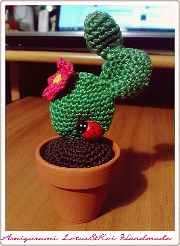 Amigurumi Cactus!  I can crochet a cactus and some mountains for cake toppers.