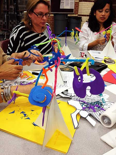 August's Primary Art Teacher Workshop: How to Make a Paper Stabile | artsmudge