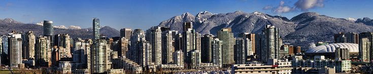 Panoramic of the Vancouver BC Snowy Skyline a Fine Art Print