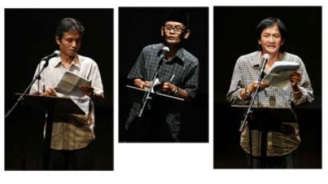 Remy Sylado, Joko Pinurbo, Zawawi Imron, Acep Zamzam Noor. Foto-Foto- TEMPO-Aditia Noviansyah