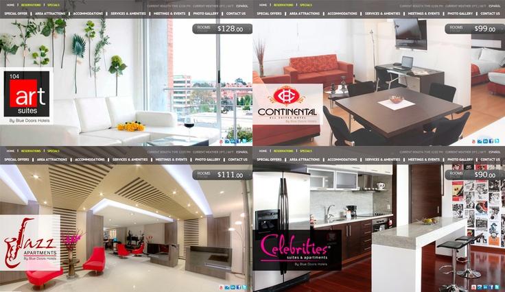 Presentación al público  de los nuevos sitios web de Hoteles en Bogotá de la Cadena Blue Doors Hotels
