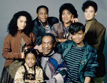 The Cosby Show VIEW SHOW The Cosby Show is a sitcom starring Bill Cosby that aired for eight seasons on NBC from 1984 until 1992. The show focuses on the Huxtable family, an affluent African-American family living in Brooklyn, New York.