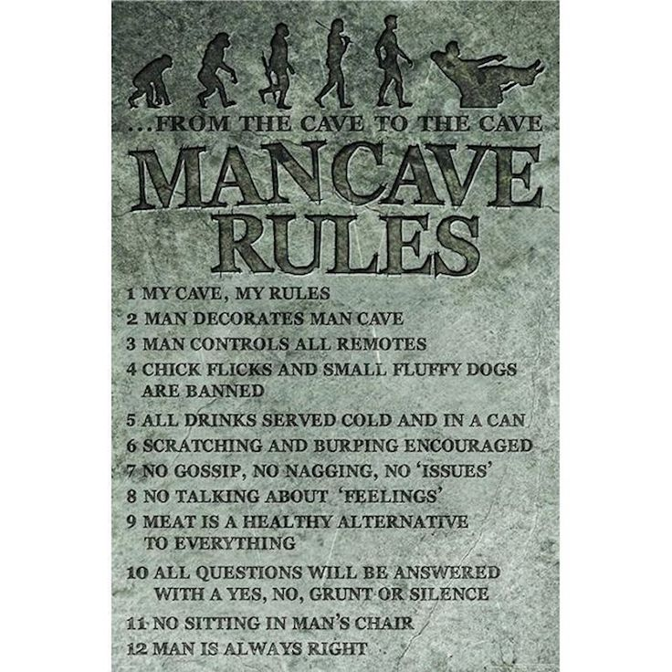Man Cave Rules Poster 61 X 91.5Cm shopping, Buy Posters online at MyDeal for best deals, coupons, bargains, sales