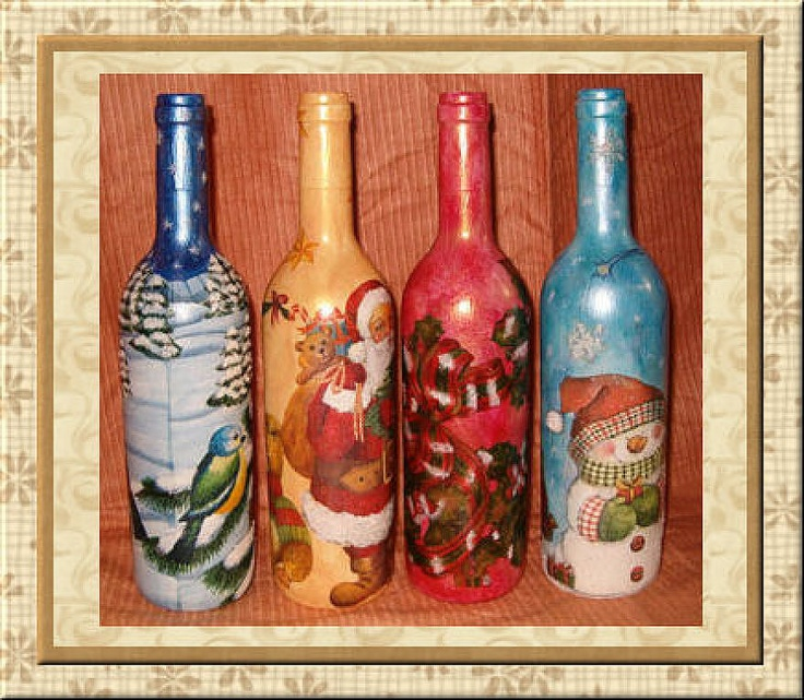 1000 images about decoracion de botellas on pinterest natal recycled wine bottles and bottle - Botellas decoradas manualidades ...