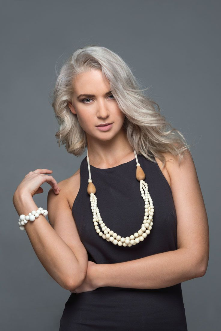 Cotton necklace. Our elegant Cotton necklace makes a sophisticated statement. It has been handmade and is on an adjustable cord. http://www.lucyandalice.com.au