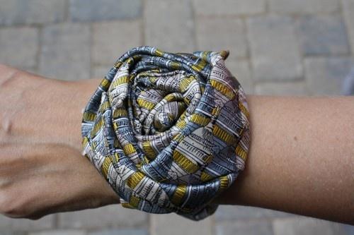 Necktie wrist cuff | Bellwethers Creations! | Pinterest
