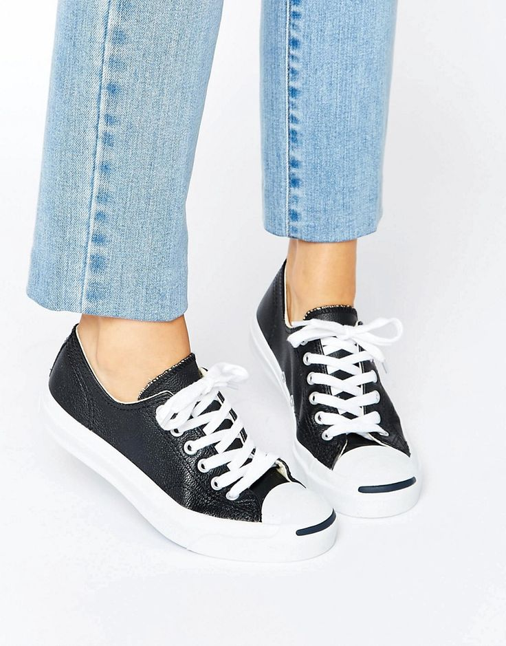 Converse+Jack+Purcell+Black+Leather+Trainers