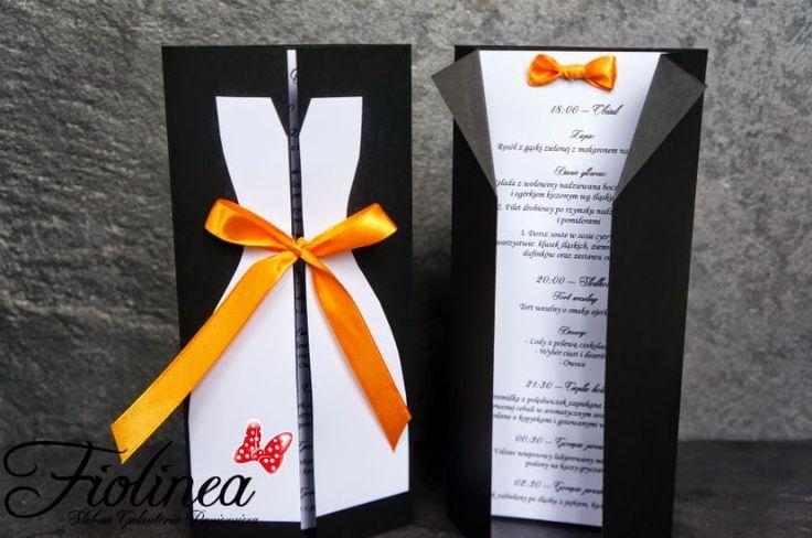 Fiolinea - Ślubna Galanteria Papiernicza: Pomarańczowo-czarne wesele tuż przed Halloween