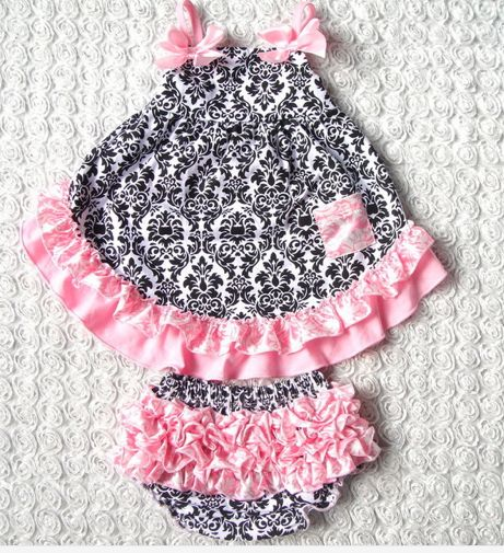absolutely gorgeous Damask print Dress and matching undies set Size 12 months $20 for set