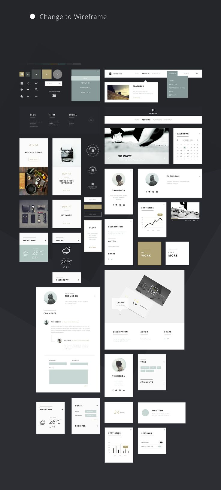 55+ Free elements UI KIT For personal and commercial use