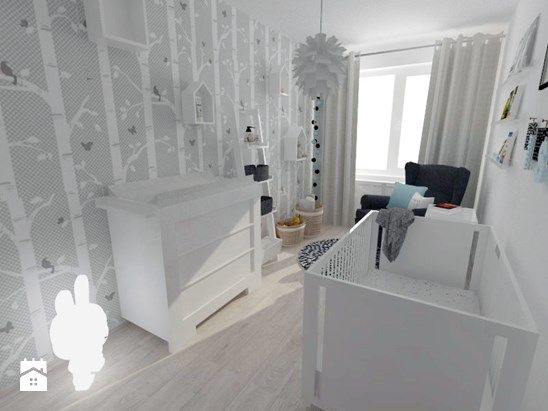 Projekt pokoju dziecięcego - Mały pokój dziecka dla chłopca dla dziewczynki dla niemowlaka dla malucha, styl nowoczesny - zdjęcie od white interior design
