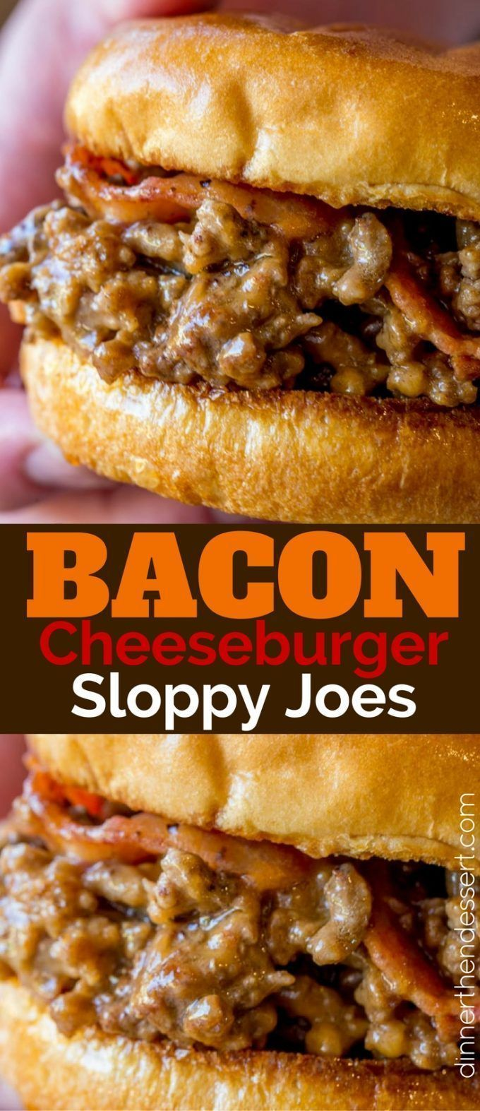 We loved these Bacon Cheeseburger Sloppy Joes so much we made them again the next day! (Beef Recipes)