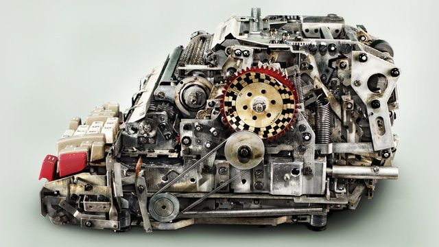 Computational Devices of the Past Were Beautifully Complex  This image, taken by San Francisco-based photographer Kevin Twome, shows a German-built Hamann 505 mechanical calculator from the 1960s. In its day, it sold for sold for upwards of £650—that's over £4,400 at today's rates. OK, so there's a limited amount you can actually get done with such a device, but the craftsmanship, engineering and sheer complexity of the 505 is astounding.